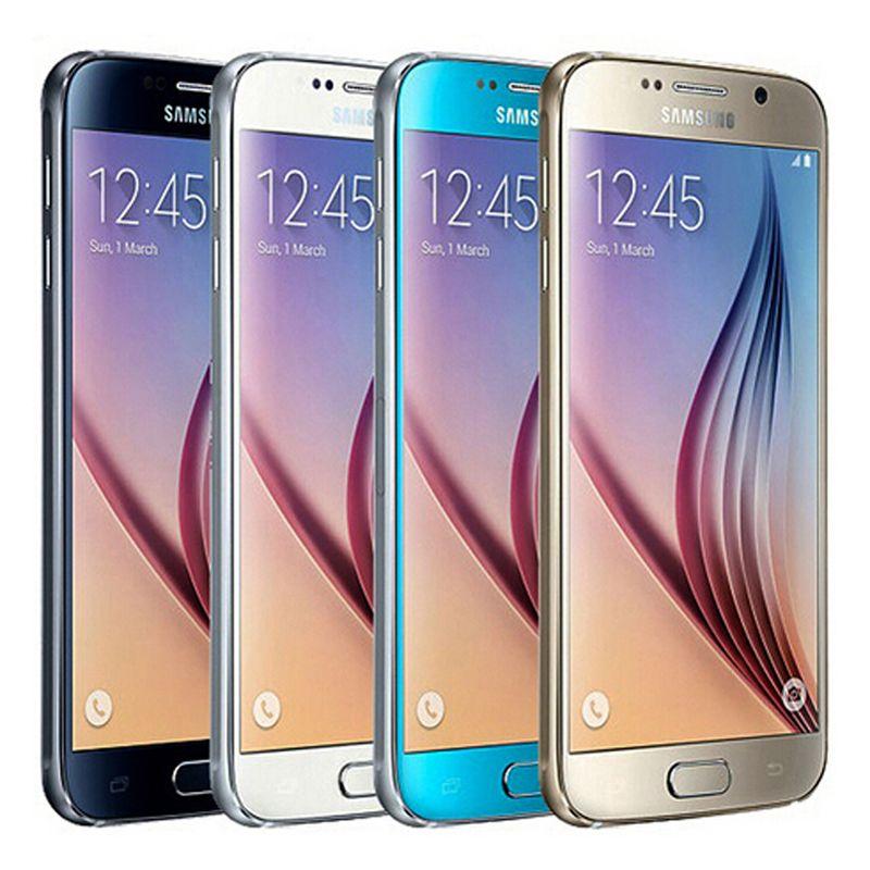 DHL 1PC reformado original para Samsung Galaxy S6 G920F G920A G920V G920T 5.1 pulgadas del teléfono celular Octa Core 3 GB de RAM 32 GB ROM 16.0MP 4G LTE Android