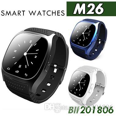 ماء Smartwatches M26 بلوتوث ووتش الذكية مع الصمام Alitmeter مشغل موسيقى عداد الخطى لابل IOS الروبوت الهاتف الذكي