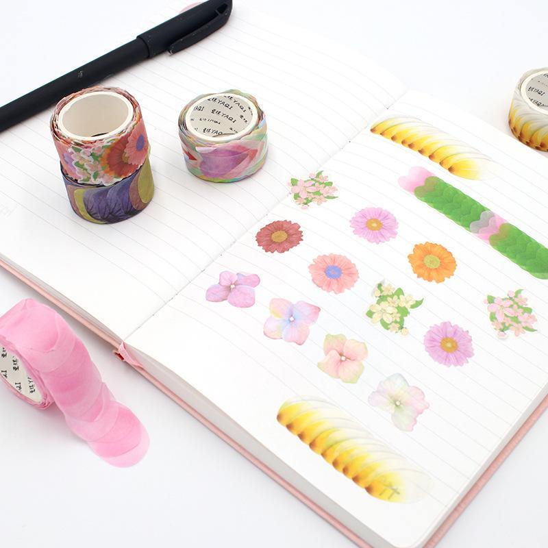 200Pcs/Roll Cute Flower Petals Washi Tape Decorative Masking Tape Fragrance Sakura For Scrapbooking Diary Paper Sticker DIY 2016