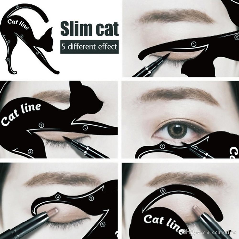 سعر المصنع الساحرة القط خط العين ماكياج أداة كحل الإستنسل قالب المشكل نموذج أدوات بطاقة لاين لاين المبتدئين كفاءة
