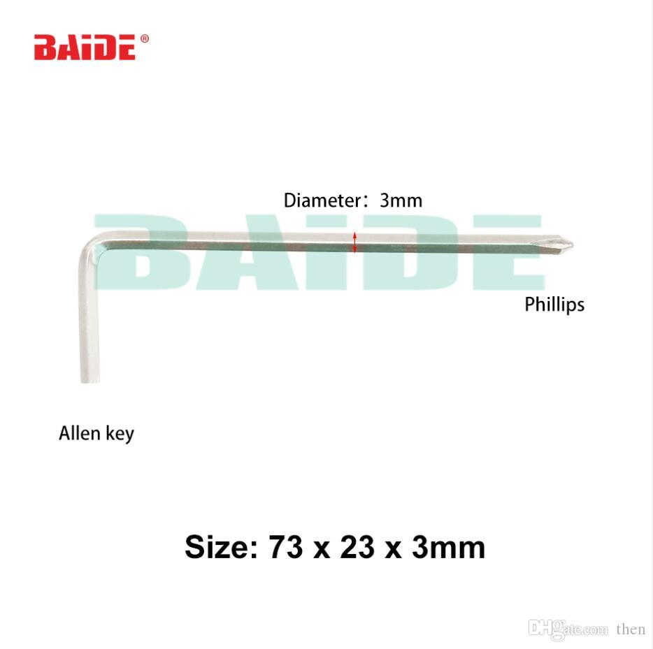 73 x 23 x 3mm L Key Allen Phillips 45# Steel Screwdriver Allen Key 4000pcs/lot