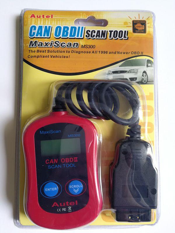 Original Maxiscan® MS300-kodläsare Busskodsläsare Autel Maxiscan MS300 CAN OBDII Automotive Diagnostic Scanner Tool