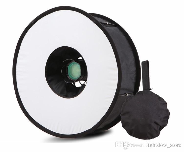 45CM Lightdow طوي الدائري فلاش Speedlite الناشر تبادل لاطلاق النار ماكرو جولة الفوتوغرافي Softbox لنيكون كانون بنتاكس سوني GODOX SPEEDLIGHT تقييما 4.7 / 5 بس