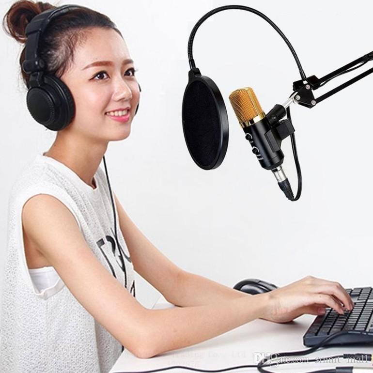 Конденсаторный микрофон профессиональный настольный студийный Usb-микрофон со штативом для компьютера караоке видеозапись LLFA