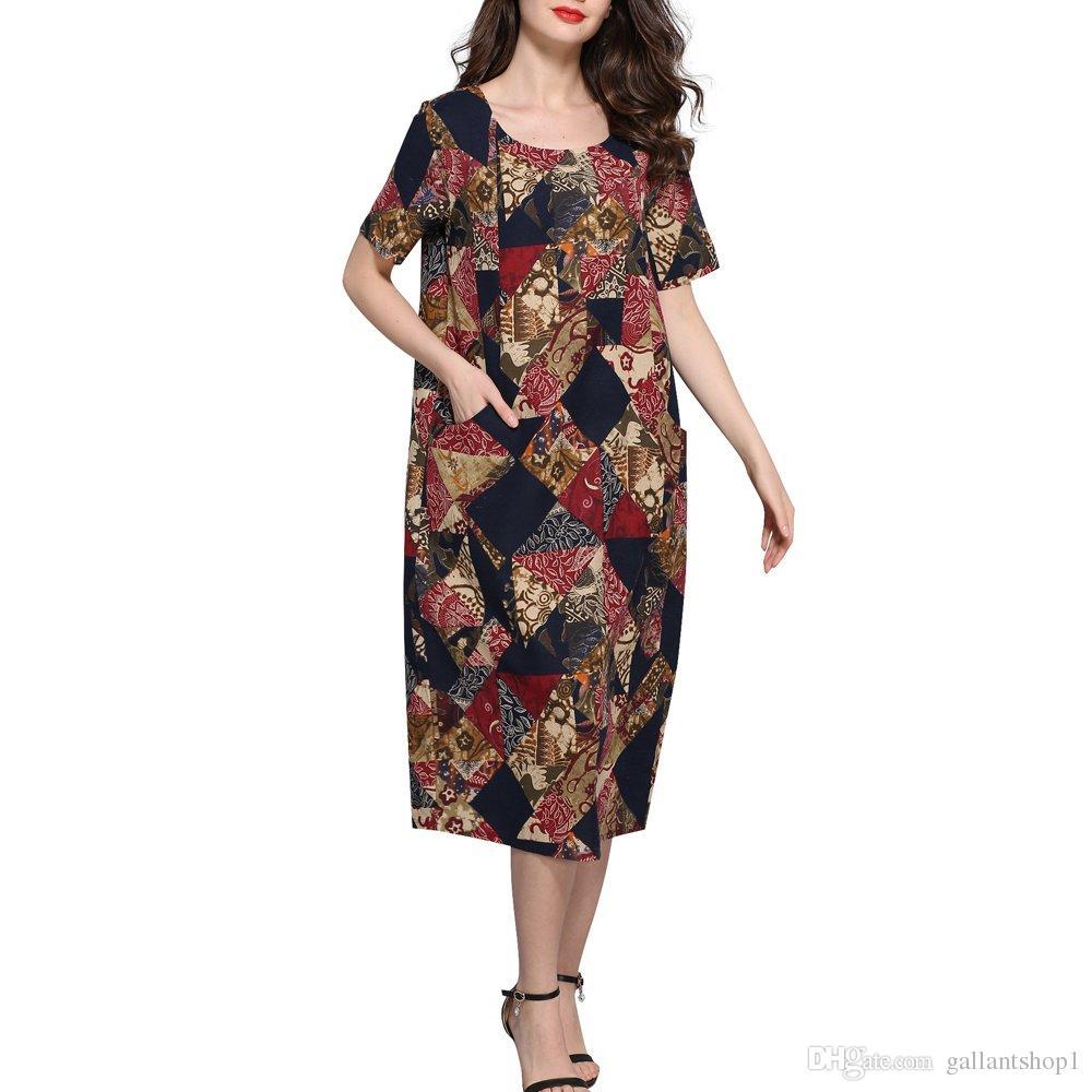 New Design Fashion Lady Long Dress Plus Size Loose Women Dress ...