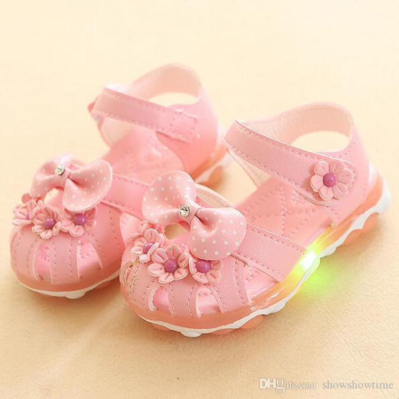 Mini Melissa Bow Children/'s Shoes Princess Summer New Girls Shoes Kids Casual