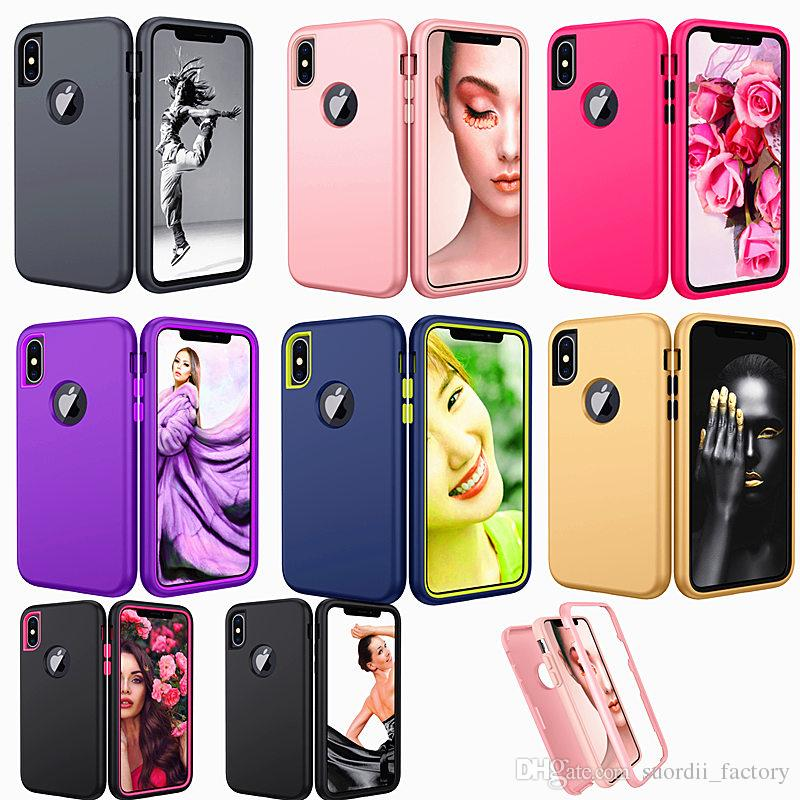 1 Hibrid Defender Telefon Kılıfı iPhone 11 Pro 8 Artı Samsung galaxy S11 Artı s11e A10S A20S Koruyucu Zırh Durumunda Mat Finish 3