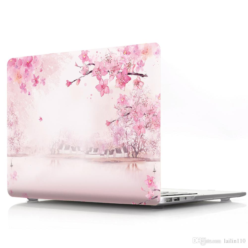 FULCLOUD-X-3 Oil painting Case for Apple Macbook Air 11 13 Pro Retina 12 13 15 inch Touch Bar 13 15 Laptop Cover Shell