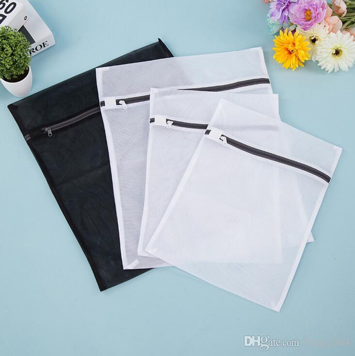 maille machine à laver sac à linge vêtements spécialisés soutien-gorge sac de toile de sous-vêtements en maille sacs à linge sac de soins de lavage 4pcs / set