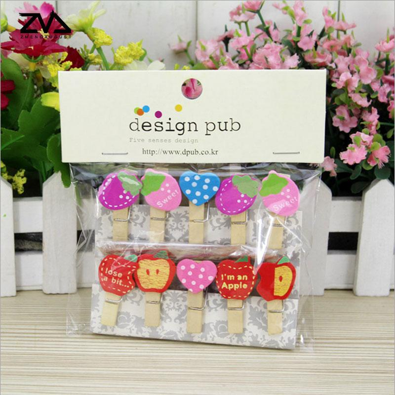 2019 Pack Kawaii Fruit Photo Clips Wooden Clip Diy Paper Craft Peg Pin Clothespin Craft Clips Party Decoration From Bright689 33 78 Dhgate Com