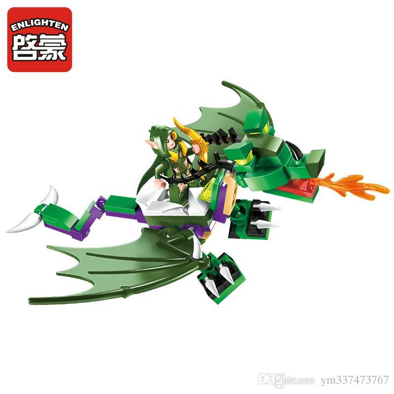 Enlighten Glory War Education Building Blocks Toy Castle Knigh Heroes Ship Hawk