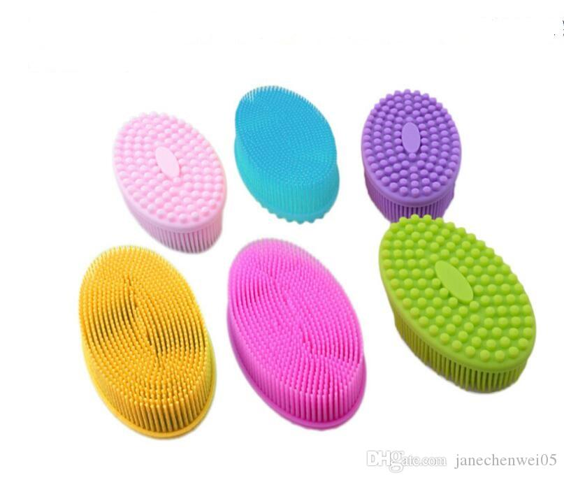 2020 Silicone Body Bath Brush Baby Shower Brush Cleaning Shampoo