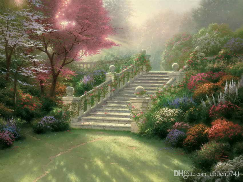 Stairway To Paradise Thomas Kinkade Oil Paintings Art Wall Modern HD Print On Canvas Home Decoration No Frame