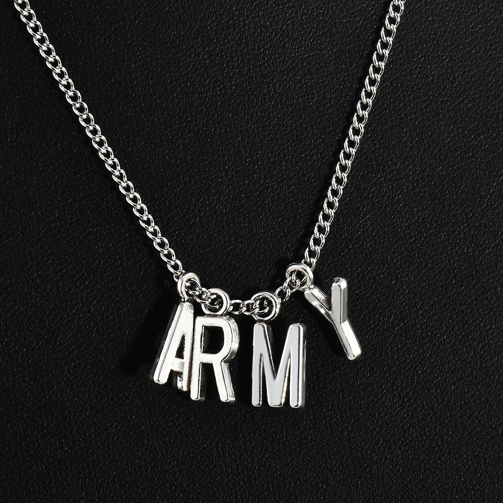 Новая мода KPOP БПС Jimin ожерелье Bangtan Boys АРМИЯ A.R.M.Y Подвеска KOOK Jimin V SUGA Подвески ювелирные изделия Лучший подарок