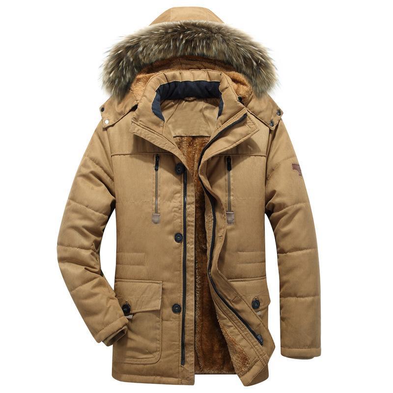 Thick Warm Parka Men New Hot Long Winter Jacket Men Hooded Military Cargo Mens Winter Coat Plus Size M-5XL C18111201