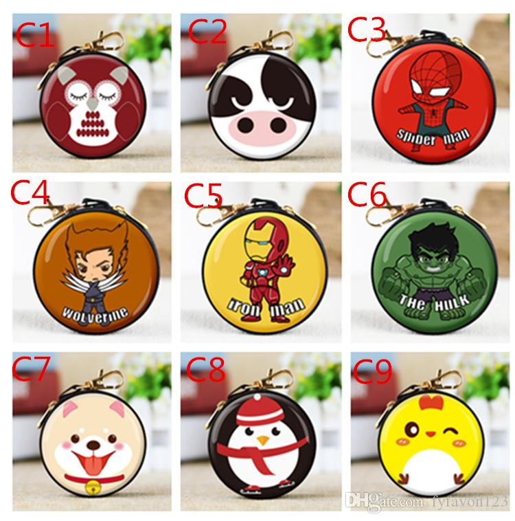 kid Cartoon wallet superman Marvel Avengers League Spider-Man Captain America bag Coin Purse Decoration Creative Festive & Party Gifts J4
