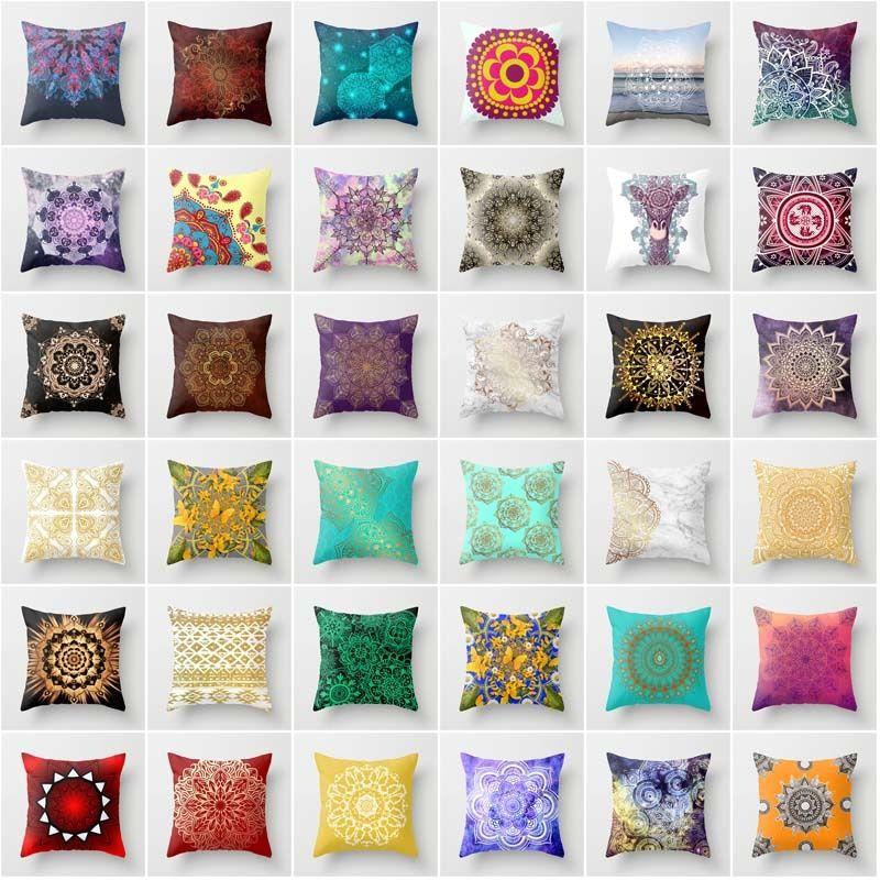 Cuscini Color Turchese.Acquista 18 Modern Colorful Mandala Turchese Acquerello Motivo