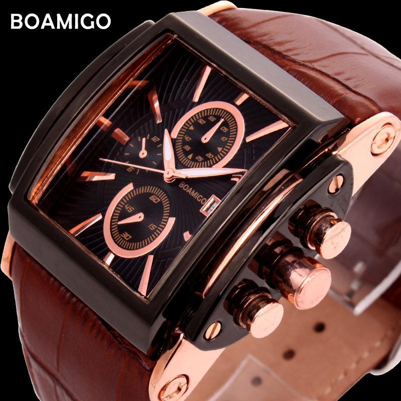 X BOAMIGO мужские кварцевые часы брови кожаный ремешок авто дата часы мужской моды случайный аналоговый большой человек наручные часы relogio masculino
