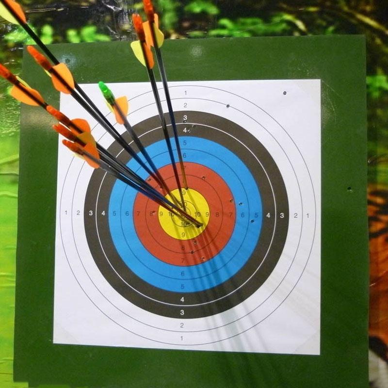 YoutubeStandard 60X60 cm Tiro Anel Completo Tiro Com Arco Tiro Ao Alvo Arco Set Flecha Caça Ao Ar Livre caça especial alvo de treinamento de tiro de papel