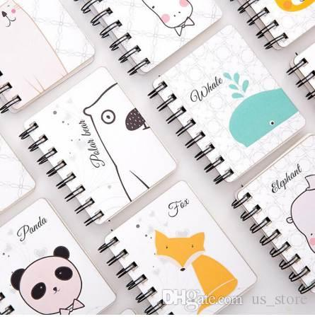 South Korea this lovely animal cartoon rollover coil Take diary mini portable laptop Pocket notebook