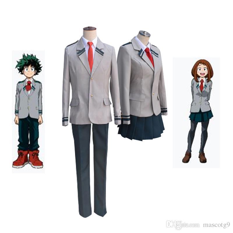 Boku no Hero Academia AsuiTsuyu Yaoyorozu Momo Uniforme Escolar Mi Héroe Academia OCHACO URARAKA Midoriya Izuku Disfraz / Cosplay