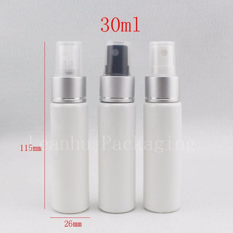 30ml white bottle with silver spray