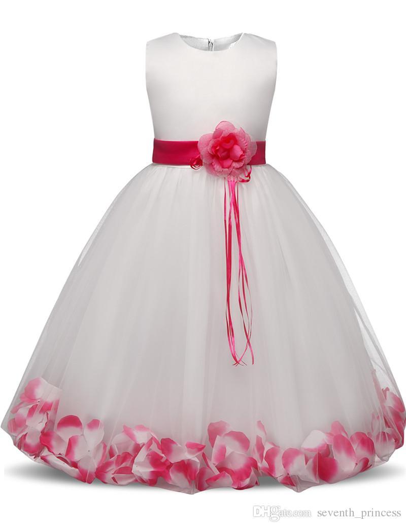 Vestiti Da Ragazza Per Cerimonia.Acquista Vestito Da Cerimonia Bambina Bambini Vestito Da Sposa
