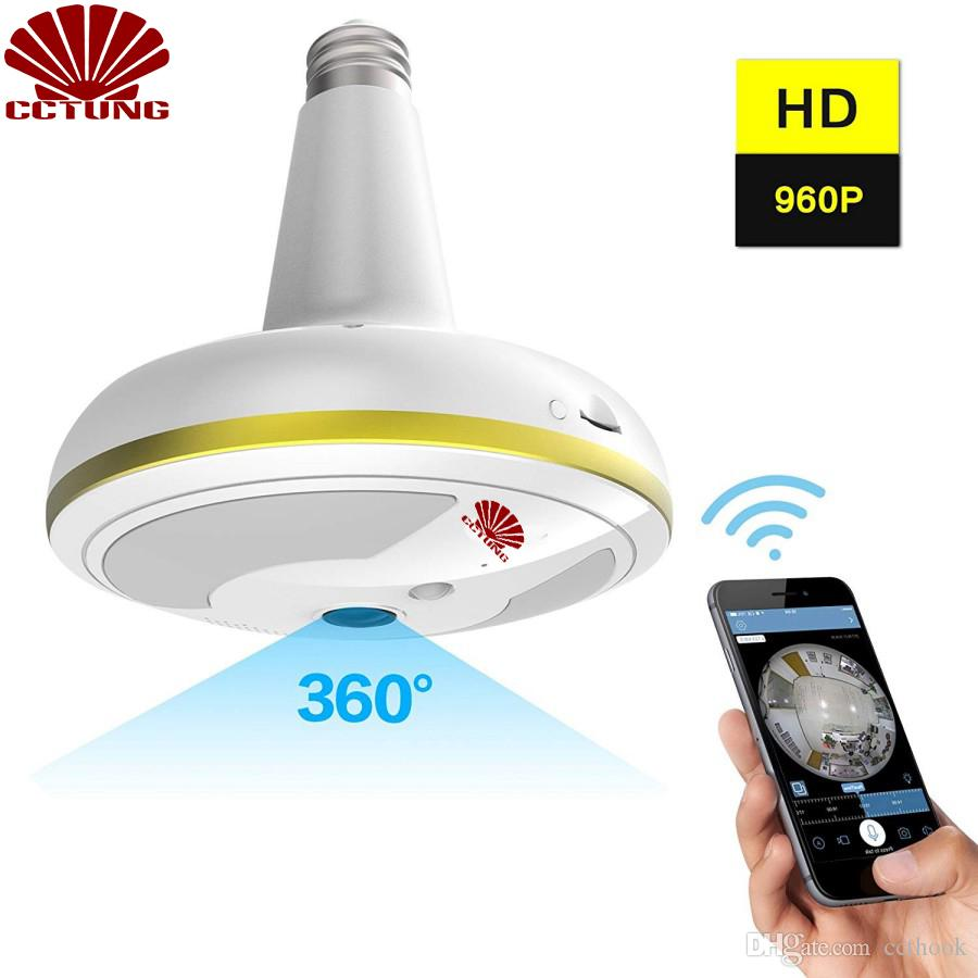 لاسلكي واي فاي الأمن كاميرا ضوء لمبة نظام أمن الوطن 360 درجة مع كشف الحركة للرؤية الليلية ل IOS الروبوت التطبيق