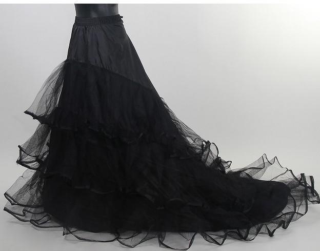 На складе Черная юбка Свадебное Petticoat Дешевые Длинные Тюль Свадебные Crinoline для платья с Часовня Поезд Очаровательная Скольжение Люкс Юбки