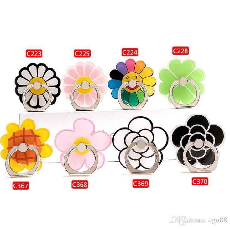 360 Degree Finger Ring Holder Bling Flower Universal mobile phone holder stander for iphone samsung android phone