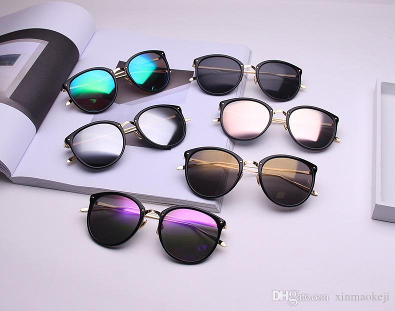 Sexy Con Envío Caja Oculos Uv400 Sol De Redondas Nuevas Mujer Vintage Moda Feminino Compre Para Retro Gafas 7Ig6vYfby