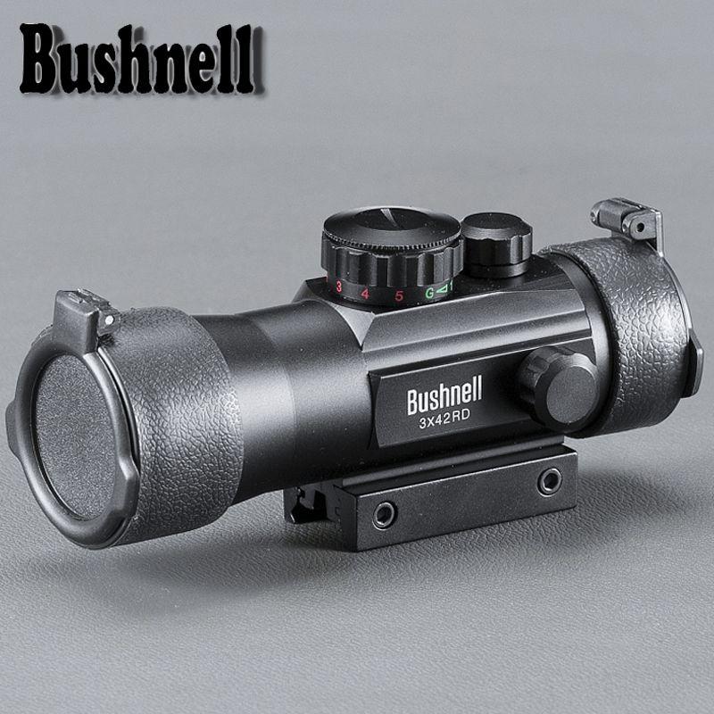 BUSHNELL 3x42 ل11 / السكك الحديدية 20MM الجبال التكتيكية Riflescope نطاق البصر الصيد التصوير المجسم ريد دوت البصرية تلسكوبي لبندقية الهواء