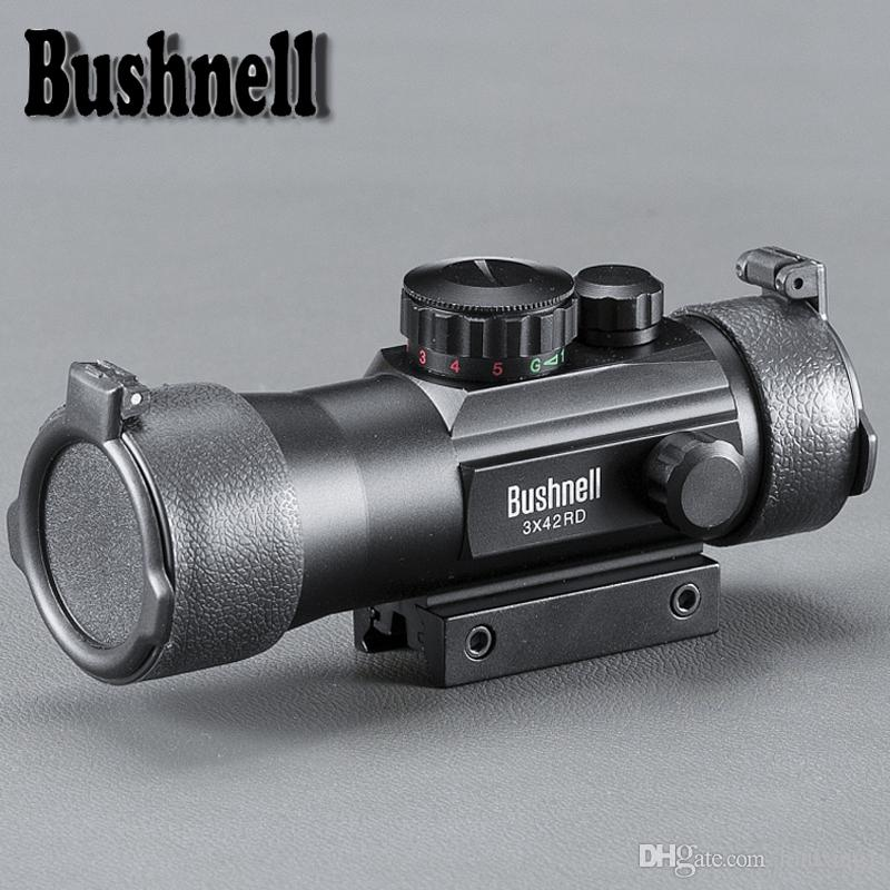 BUSHNELL 3x42 11/20 milímetros Rail Mounts Tactical Riflescope Visão Âmbito Hunting Holographic Red Dot Optical Telescópico Para Air Rifle