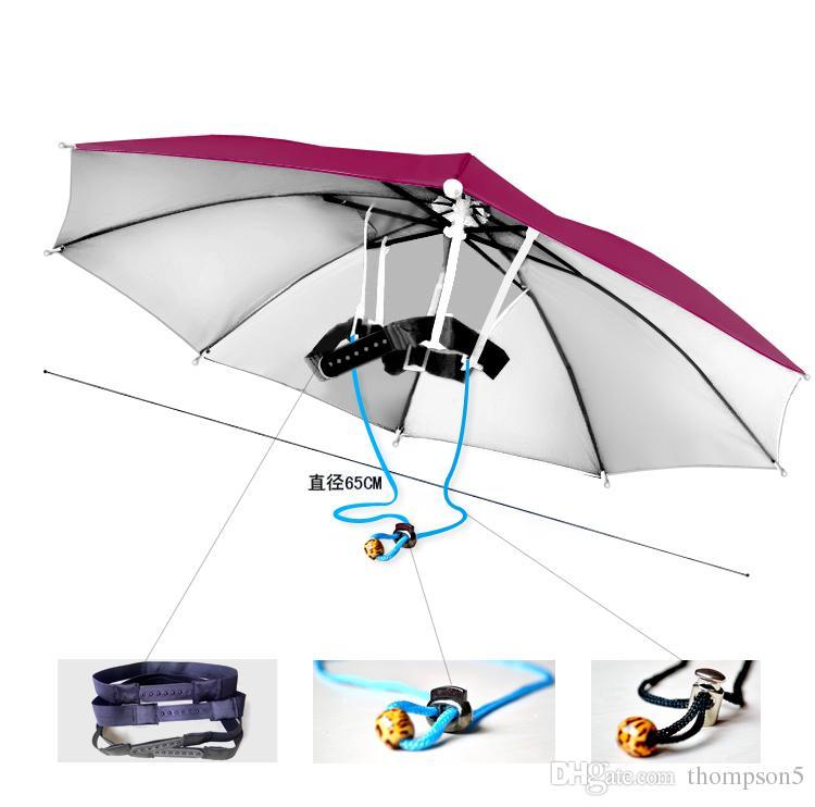 Nuovo arrivo Bambini donne cappello ombrello all'aperto anti-uv cappello ombrello a prova di ombrello antivento girovita testa regolabile per viaggiare shutterbug
