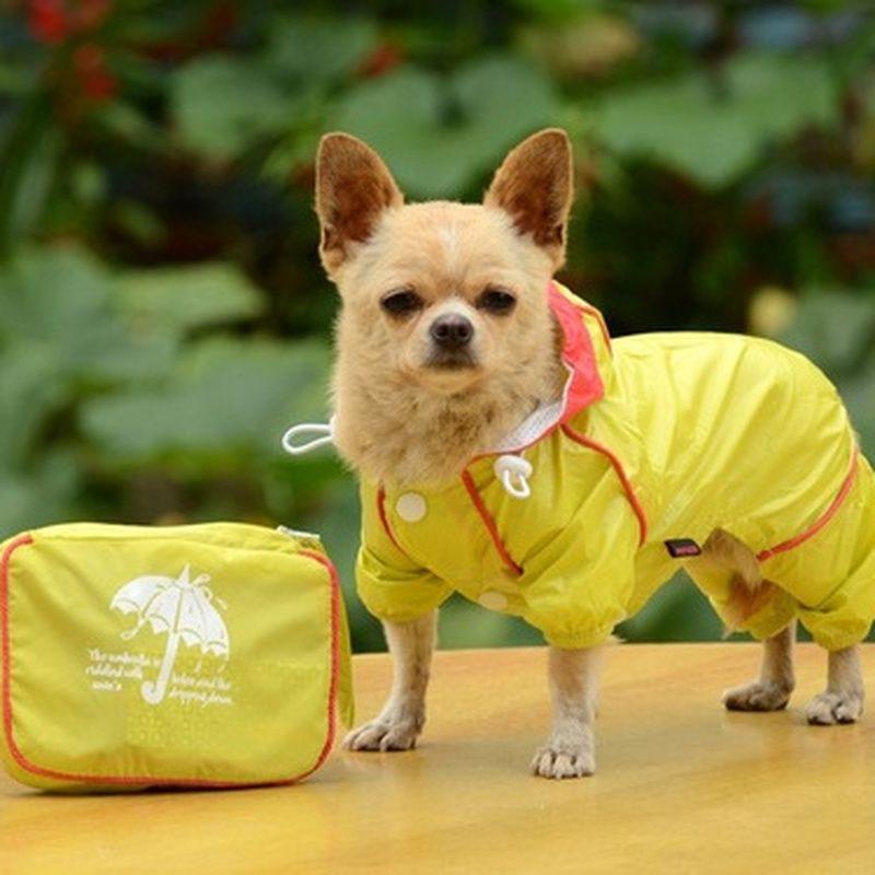 Manteau de pluie pour animaux de compagnie chien manteau de pluie vêtements imperméables vêtements de vêtements de combinaison Slicker Jumpsuit pour chien pour petits chiens imperméables fille garçon