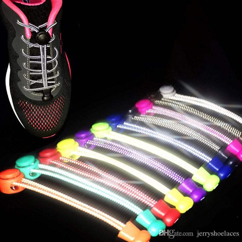 100cm / 39inches 3M Cordones reflectantes Cuerdas elásticas redondas Visibilidad de seguridad Correr Ciclismo Zapatos para zapatos casuales Zapatilla de deporte
