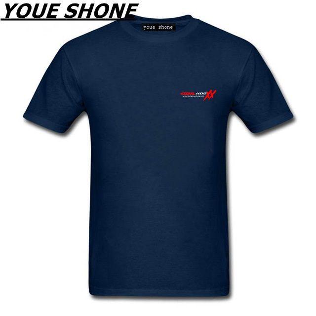 Men's T Shirt Men Short Sleeve Tee T-Shirts S135 TOP HONDA CBR 1100 SUPER BLACKBIRD XX T-Shirt motorcycles Black And White Tees