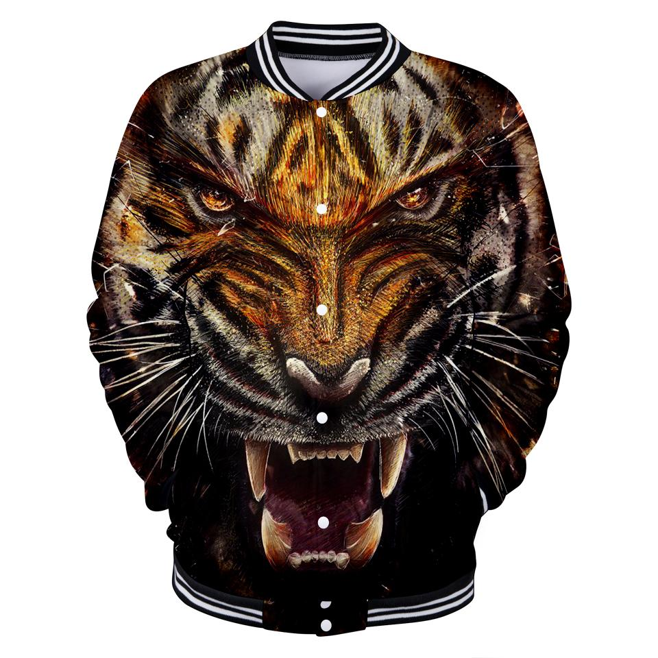 2018 New Tiger 3D Jacket Women / Men Jacket Sweatshirt 3D Tiger Boys Girls Jackets Baseball Fashion Cool Thin Streetwear Clothes