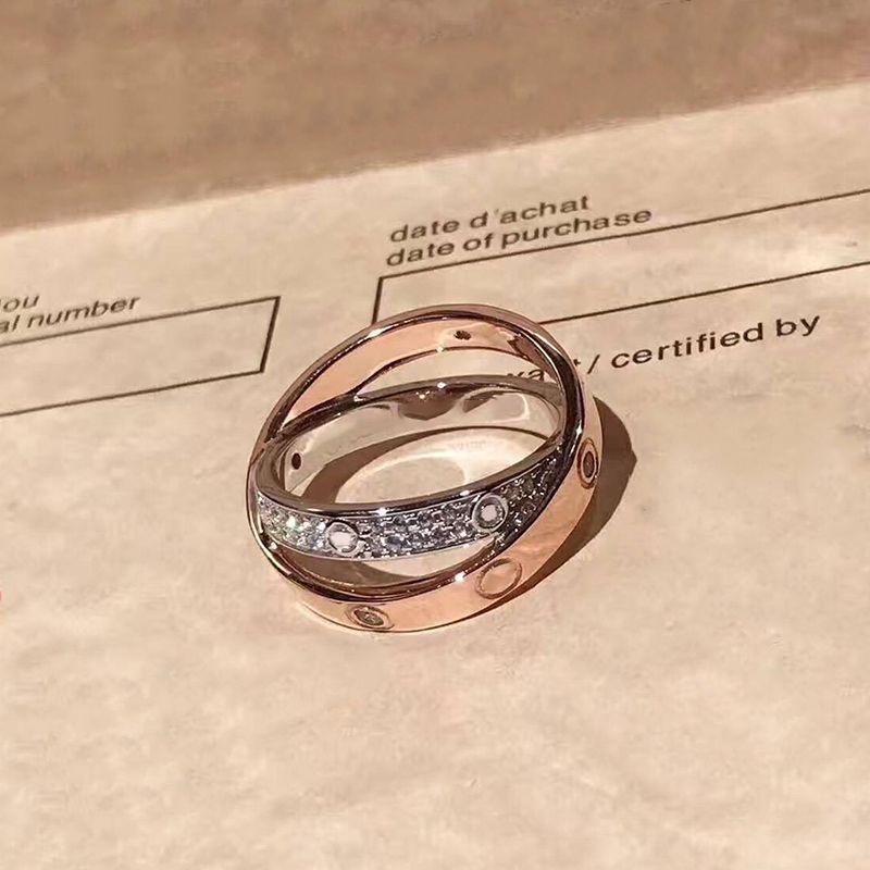 أعلى جودة الأزياء 925 الفضة الاسترليني خواتم الأم سيلفي ارتفع الذهب الحب خواتم الفضة خاتم العشاق المسمار زفاف تشيكوسلوفاكيا الأحجار هدية عيد ميلاد