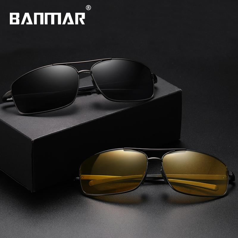 Men Sunglasses Aluminum Frame Day Night Vision Sun Glasses Men Goggle Eyewear Accessories For Male 2458