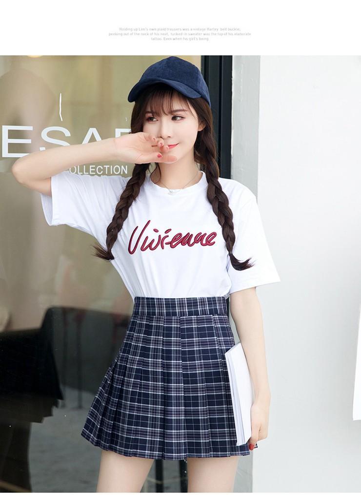 Fashion Summer Skirt Women 2018 Ete Skirts Casaul Pleated Ladies Skirts High Waist Mini Skirt Female Skirt Plaid Saia Jupe Femme (11)