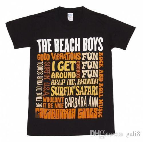 Beach Boys - Melhor De S / S - T-shirt Preto Oficial Dos Homens
