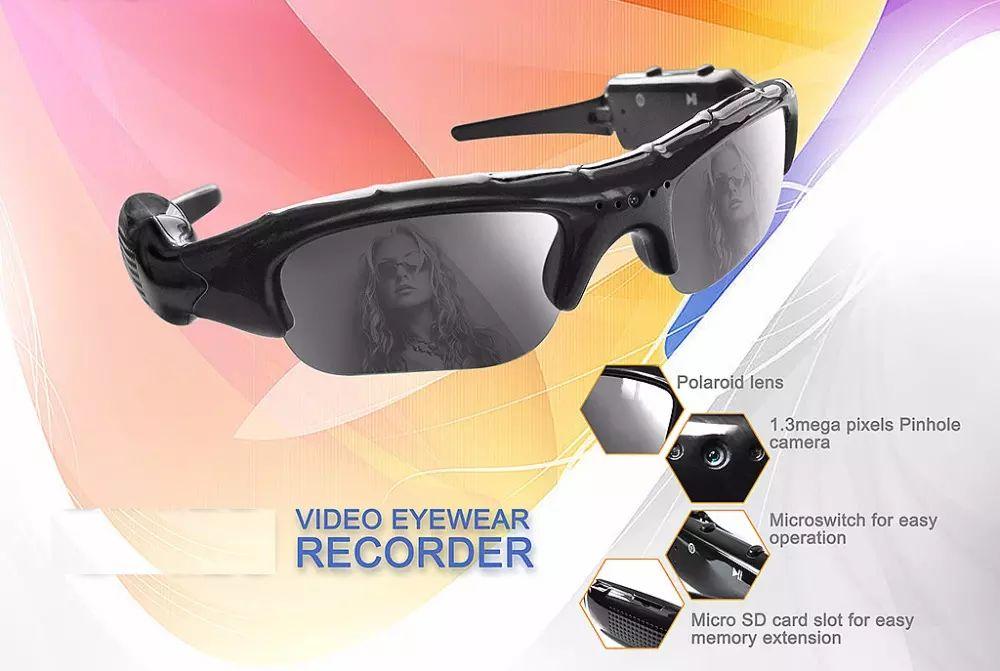 Portable Mini Sunglasses Camera 720*480P 30FPS Sunglasses Camera Digital Audio Video Recorder Sports sunglasses Camcorder Support TF Card