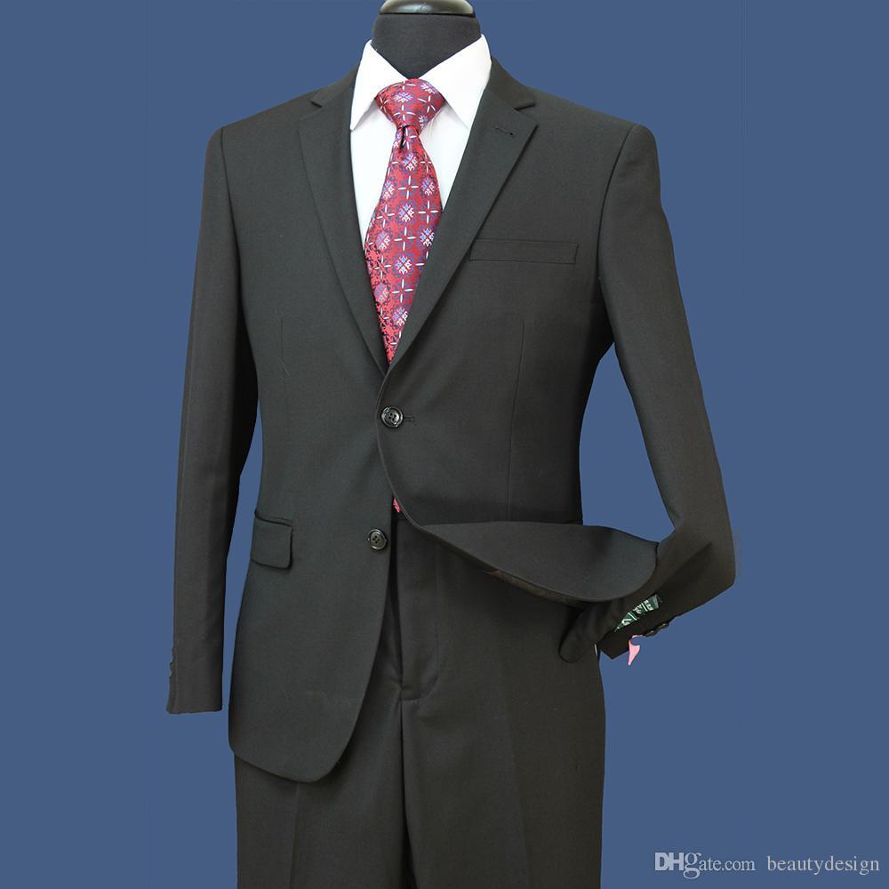 Düğünler Erkekler Biçimsel Suits için STOK Damat smokin Groomsmen Yan Vent Best Man Suit Damat Damat Giyim (Ceket + Pantolon) ST004