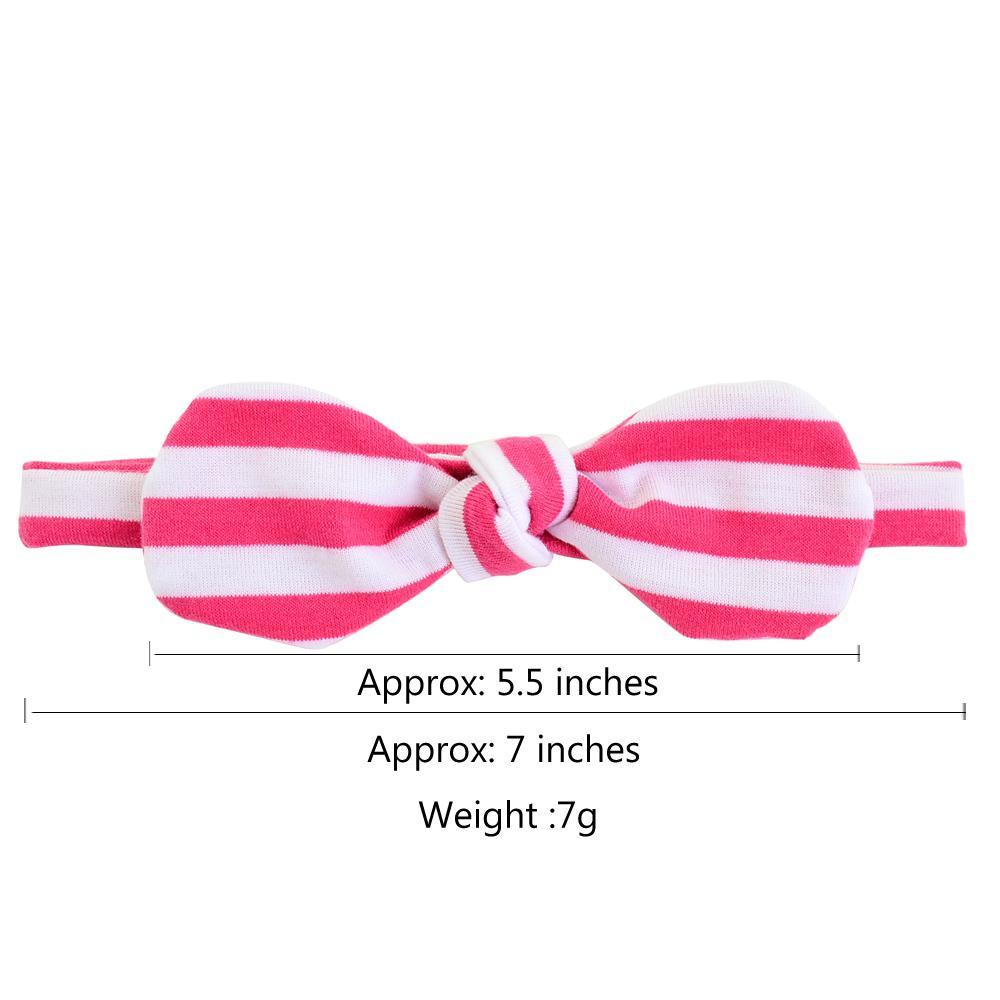 1set 3pieces Kids Bowknot Headband Hair bands Turban Rabbit Headwear With Card Girls Hair Accessories Elastic Hair Bands 749