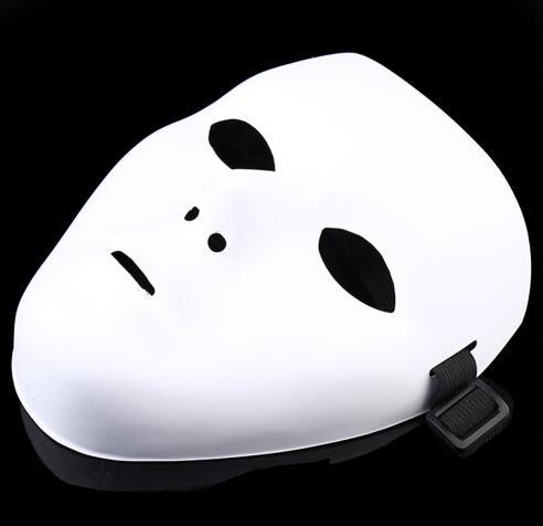JabbaWockeeZ Máscara Máscara Do Partido Máscara Do Partido do Dia Das Bruxas HALLOWEEN DANÇA de FANTASMA de FANTASMA de Hip-Hop PVC branco puro máscaras do partido do disfarce