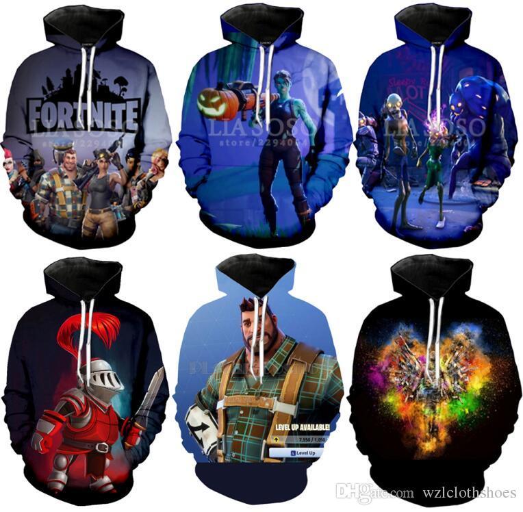 2020 Game Fortnite Hoodie 3D Print Sport Men Gaming Pullover Tops