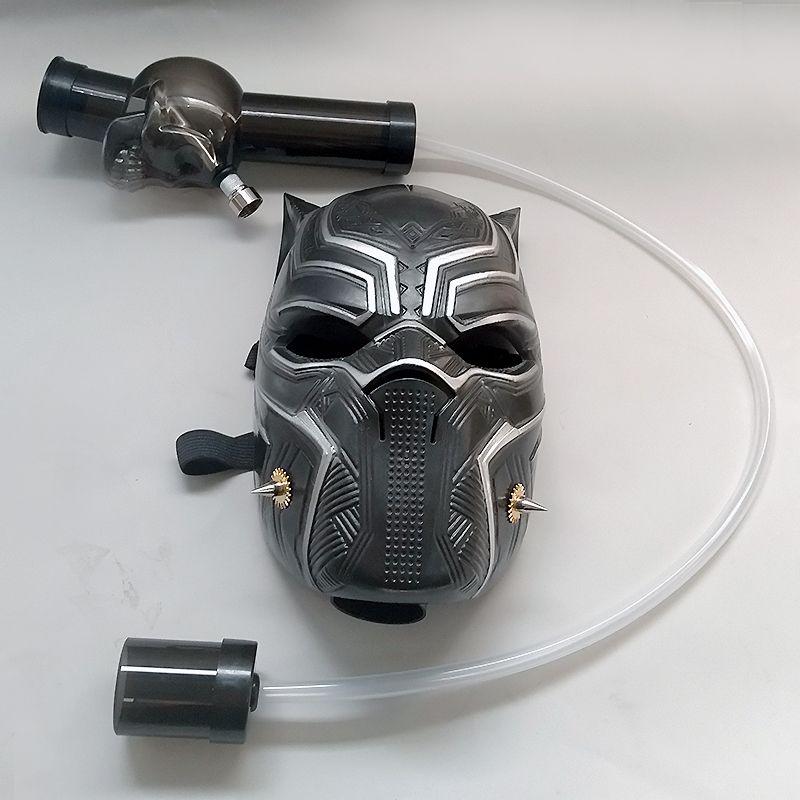 Maschera antigas in plastica con tubi morbidi Pipa ad acqua per fumatori Bong A Set Wholesale o Drop Shipping