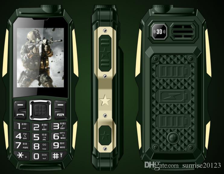 Military electric power small three anti-mobile phone, long standby old mobile phone, old machine old machine one year free OEM