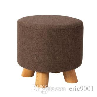 Incredible Modern Stool Solid Wooden Washable Fabric Stool Solid Fabric Linen Creative Children Small Chair Sofa Round Bench Canada 2019 From Eric9001 Cad Beatyapartments Chair Design Images Beatyapartmentscom